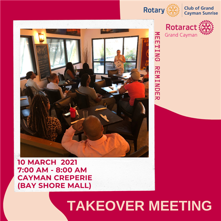 Takeover Meeting of Rotary Sunrise