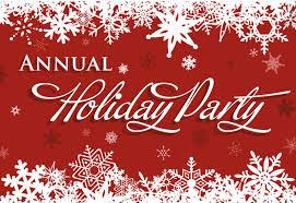 Holiday Party, Saturday, December 9th