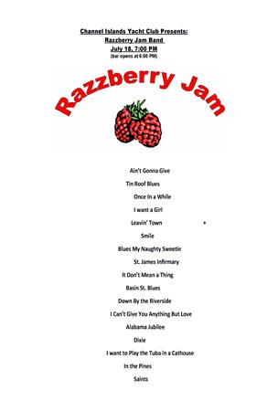 7pm Razzberry Jam Jazz Concert