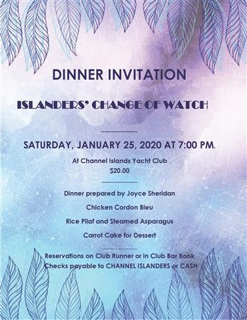 Islander's Change of Watch Dinner
