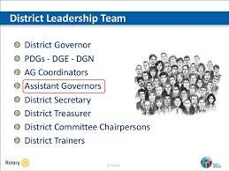 The role of the District and the Governors Assistants