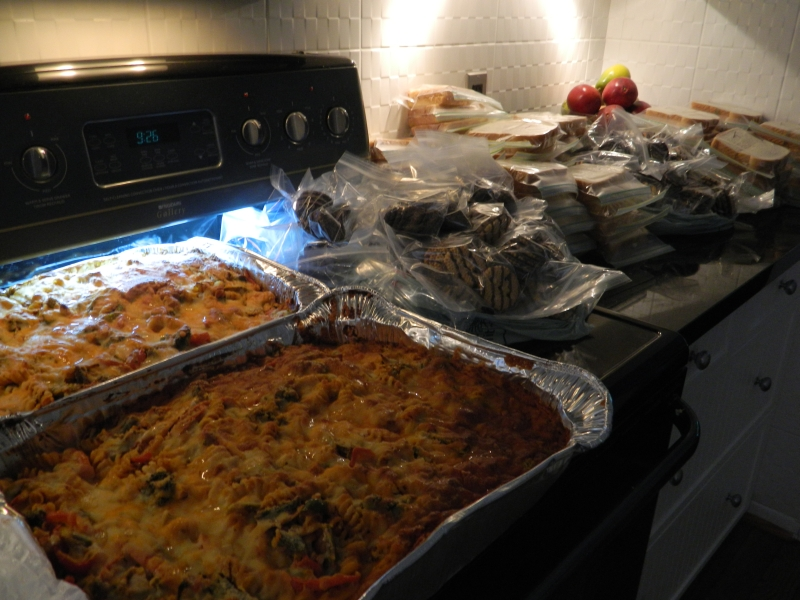 pasta and more for Light Patrol Youth