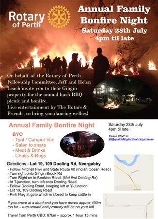 Annual Family Bonfire Night - 28 July