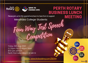 Perth Rotary | Four Way Test Speech Competition