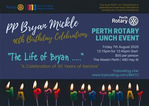 PP Bryan Mickle | 90th Birthday Lunch Celebration Event