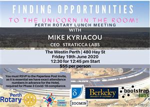 Perth Rotary | Lunch Meeting | Finding Opportunities to the Unicorn in the Room