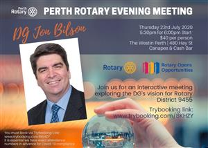 Perth Rotary | Evening Drinks | Thursday 23rd July 2020