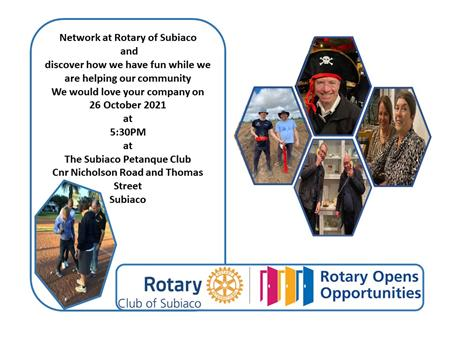 Meet the People at the Rotary Club of Subiaco