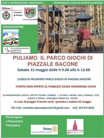 CLEANING DAY-PARCO GIOCHI DI PIAZZALE BACONE