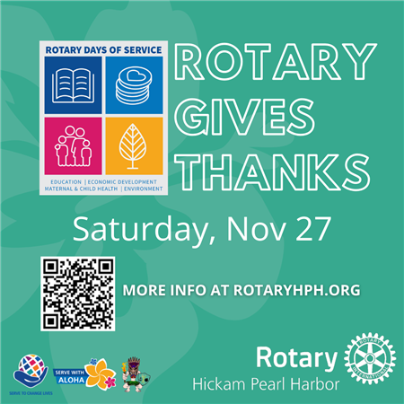 Rotary Gives Thanks and Aloha Day with RotaryHPH