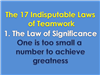 John Maxwell's Law of Significance
