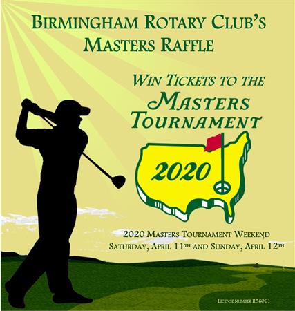 Masters Tournament Raffle Tickets For Sale
