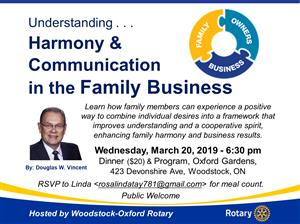 Harmony & Communications in the Family Business