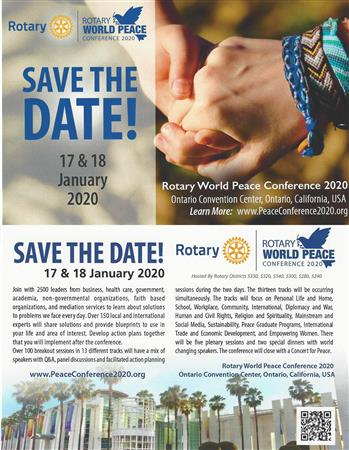 Rotary World Peace Conference 2020