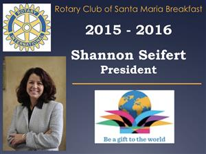 """Past President Shannon Seifert will be """"in charge""""."""