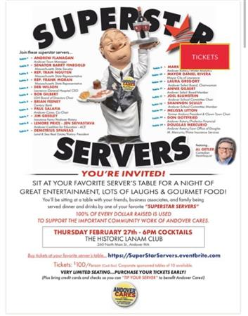 Andover Cares SuperStar Servers Dinner/Fundraiser