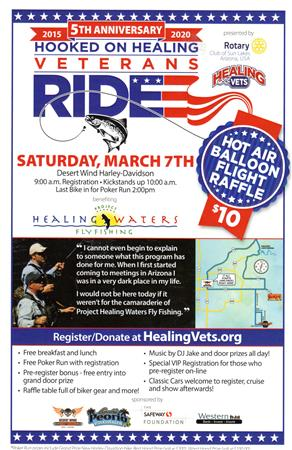 Hook on Healing Vets 5th Annual Ride on March 7