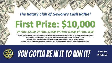 Cash Raffle Tickets Now Available!