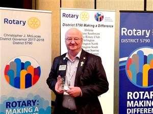 Larry Petrash of Rotary District 5790