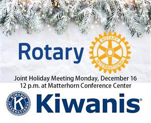 A special holiday season joint meeting of the Elkhart Rotary and Elkhart Kiwanis Clubs
