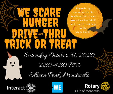 We Scare Hunger Drive-Thru Trick or Treat