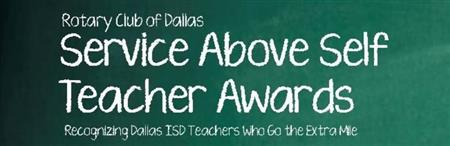 Service Above Self Teacher Awards