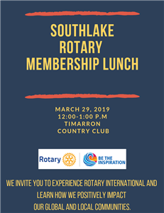 Featuring Rotarians from the Southlake Club & the Singapore Club