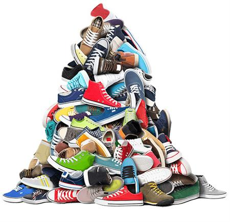 Oct 30 - Organize Shoes for Rotary Shoe Drive