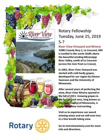 Rotary Fellowship - River View Winery and Vineyard