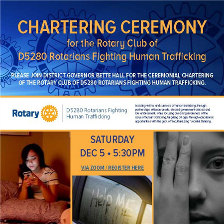 Chartering of Rotarians Fighting Human Trafficking