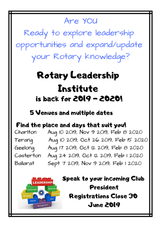 RLI 2 Casterton - Note: Venue Change