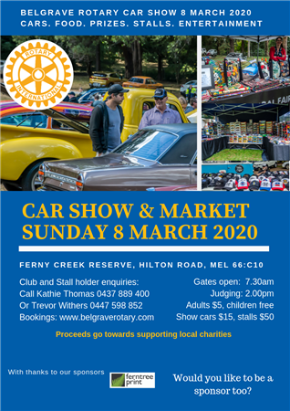 Rotary Club of Belgrave Car Show