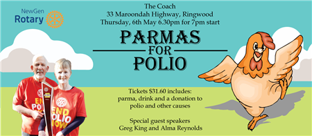 'PARMAS FOR POLIO!' - Save the Date