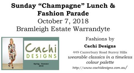 """Sunday """"Champagne"""" Lunch & Fashion Parade"""