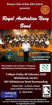 An evening with the Royal Australian Navy Band