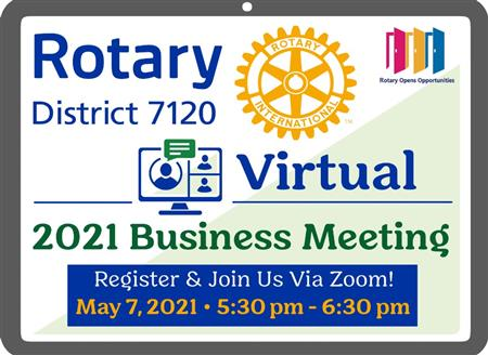 2021 District Virtual Business Meeting