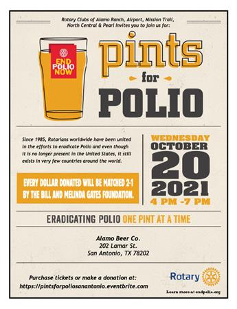 Multi-Club Pints For Polio Event