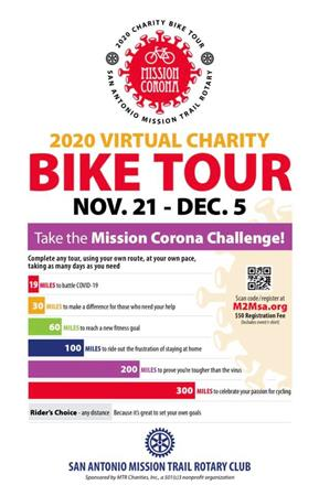San Antonio Mission Trail's Virtual Charity Ride