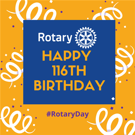 Rotary's 116th Birthday