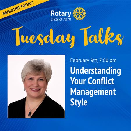 'Tuesday Talks' February-Conflict Resolution