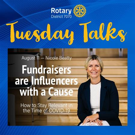 'Tuesday Talks' August 'Fundraisers Are Influencer