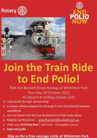 End Polio Now Train Ride (Rotary Foundation)