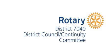 District Council/Continuity Meeting