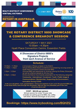 Rotary D9800 Showcase& Conference Breakout Session