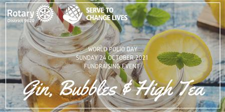 World Polio Day Gin, Bubbles and High Tea