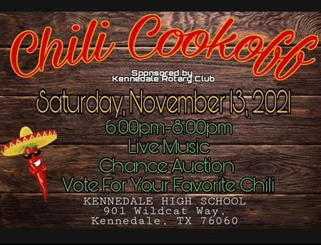 Kennedale Rotary Club Chili Cook Off. November 13