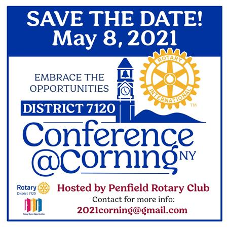 SAVE THE DATE! District 7120 2021 Conference