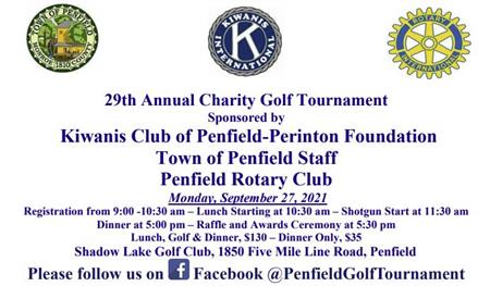29th Annual Penfield Charity Golf Tournament 2021