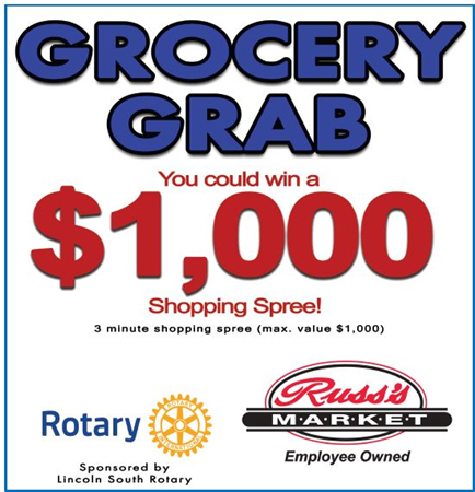 Rotary and Russ's Grocery Grab