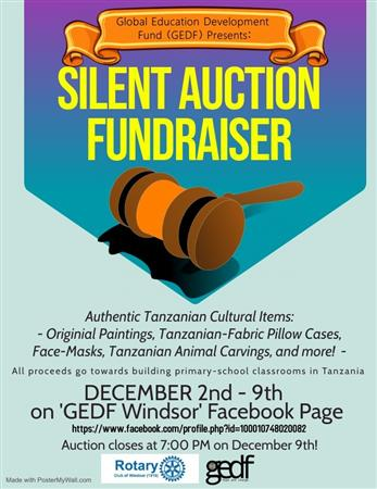 Silent Auction Fundraiser for Tanzania